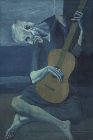 Picasso Blue Guitar